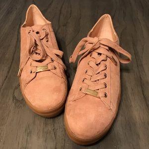 Topshop Pink Platform Sneakers Size 7.5